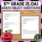5th Grade Operations and Algebraic Thinking (SUPER PACK) Test Prep
