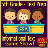 5th Grade FSA Reading Informational Text - Jeopardy Game Show! Florida Test Prep