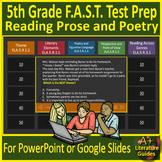 5th Grade FSA Reading Literature - Jeopardy Style Game Show! Florida Test Prep