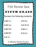 5th Grade FSA Review Quiz