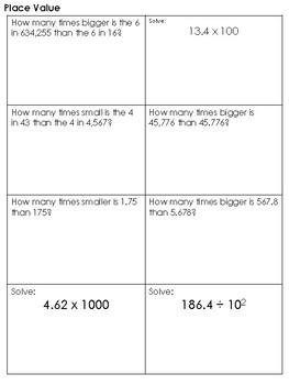 5th Grade FSA Skills Packet