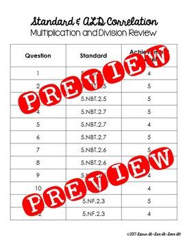 5th Grade FSA Style Questions- Level 4 and 5 ALD  (Math)