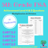 5th Grade FSA Style Questions- Level 4 and 5 ALD  (Math)