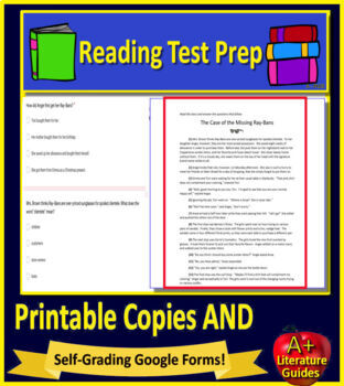 5th Grade FSA Test Prep Reading Practice Tests - Print and Go AND Paperless