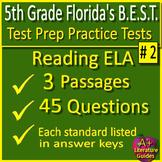 5th Grade FSA Reading Test Prep Printable & SELF-GRADING GOOGLE FORM QUIZZES!