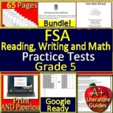 5th Grade FSA Writing, Reading and Math BUNDLE! Practice Tests for Florida
