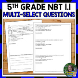 5th Grade Number and Operations in Base Ten Test Prep