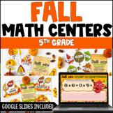 5th Grade Fall Math Activities - Fall Digital Math Activit