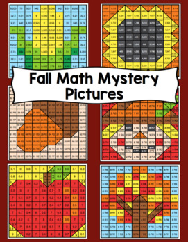 5th Grade Fall Math Mystery Pictures