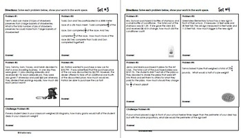 Daily Problem Solving for 5th Grade: February Word Problems (Multi-step)