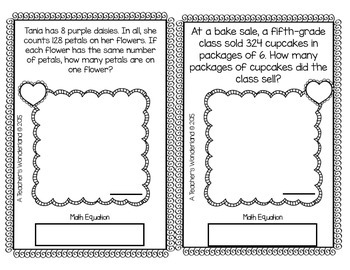 5th Grade February Word Problem Journals