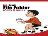 5th Grade File Folder Math Games
