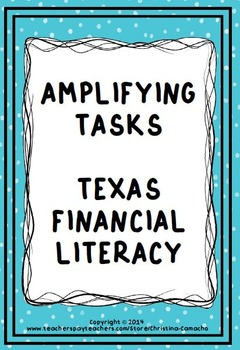 5th Grade Financial Literacy Differentiated Word Problems 5.2 5.9 STAAR