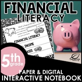 5th Grade Financial Literacy Interactive Notebook Set | Di