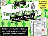 5th Grade Financial Literacy: Taxes--Math, Social Studies, Reading (Spanish)