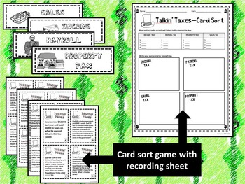 5th Grade Financial Literacy: Taxes--Math, Social Studies, Reading (Spanish)