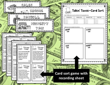 5th Grade Financial Literacy: Taxes--Math, Social Studies, Reading (TEKS, STAAR)