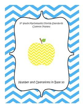 5th Grade Florida Math Standards Posters (NBT)