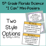 5th Grade Florida Science I Can Statements