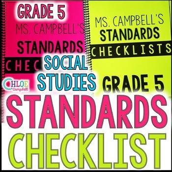 5th Grade Florida Social Studies Standards Checklist