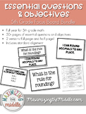 5th Grade Focus Board Bundle (Objectives and Essential Questions)