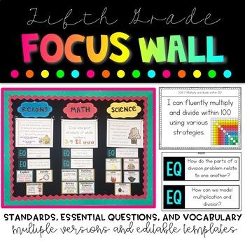 5th Grade Focus Wall Bundle