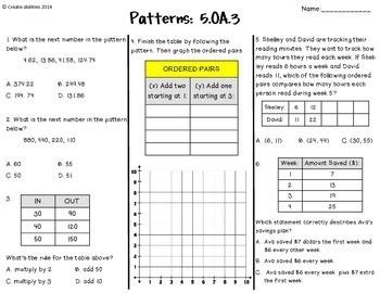 Math Tests 5th Grade