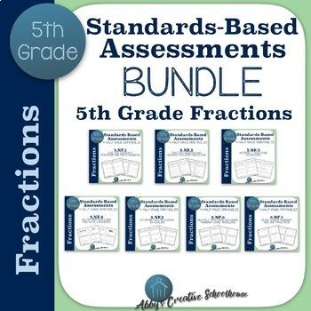 5th Grade Fraction Assessment BUNDLE