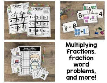 5th Grade Fraction Math Centers