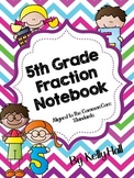 5th Grade Fraction Interactive Notebook