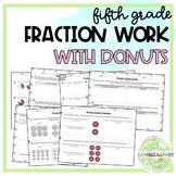 5th Grade Fraction Practice {Donut Themed}