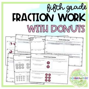 5th Grade Fraction Practice {Donut Themed}