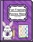 5th Grade Fraction Review Maze - Easter theme