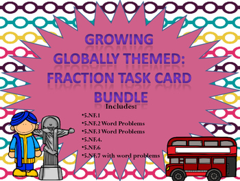 5th Grade Fraction Task Card Unit- Growing Bundle
