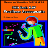 5th Grade Fractions Assessments: 5.NF.1-7