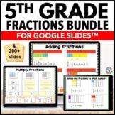 5th Grade Fractions Bundle {5.NF.1, 5.NF.3, 5.NF.4, 5.NF.7