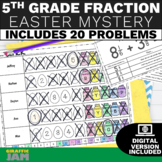 5th Grade Fractions Easter Activity Review Game with No Prep and Answer Key