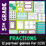 Fractions 5th Grade: 12 math games for the Common Core