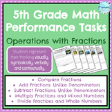 5th Grade Fractions Performance Tasks