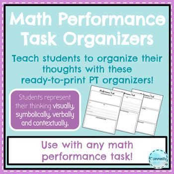 5th Grade Performance Task Organizer Sheets by Connelly Creations