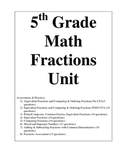 5th Grade Fractions Practices/Assessments