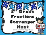 5th Grade Fractions Scavenger Hunt (Common Core Aligned)