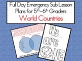 World Countries - Common Core Aligned Full Day For Your Sub