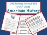American History - Common Core Aligned Full Day for Your Sub