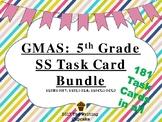 5th Grade GMAS Social Studies Task Cards Bundle (SS5H1-7; SS5E1-4; SS5CG1-3