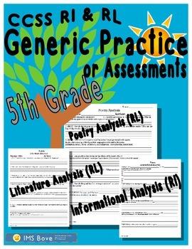 5th Grade Generic ELA Reading Practice/Assessments