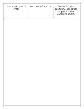 5th Grade Genetics Choice Board