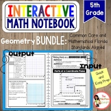 5th Grade Geometry Interactive Notebook Bundle
