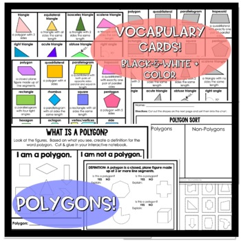 5th Grade Geometry - Interactive Notes, Assessments, Games