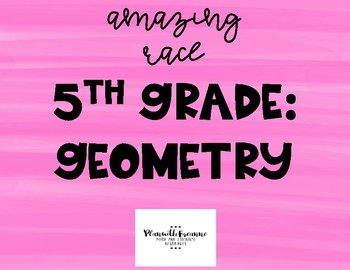 5th Grade Geometry Math Race Activity